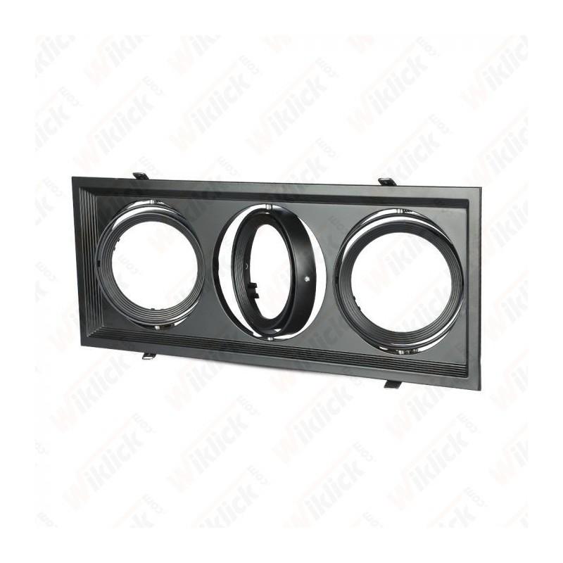 V-TAC VT-7223 Porta AR111 Triplo Orientabile Colore Nero - SKU 3583