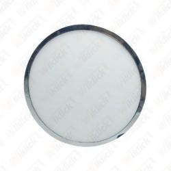 12W LED Surface Panel Light Chrome Round 4500K