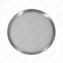 12W LED Surface Panel Light Satin Nickel Round 4500K