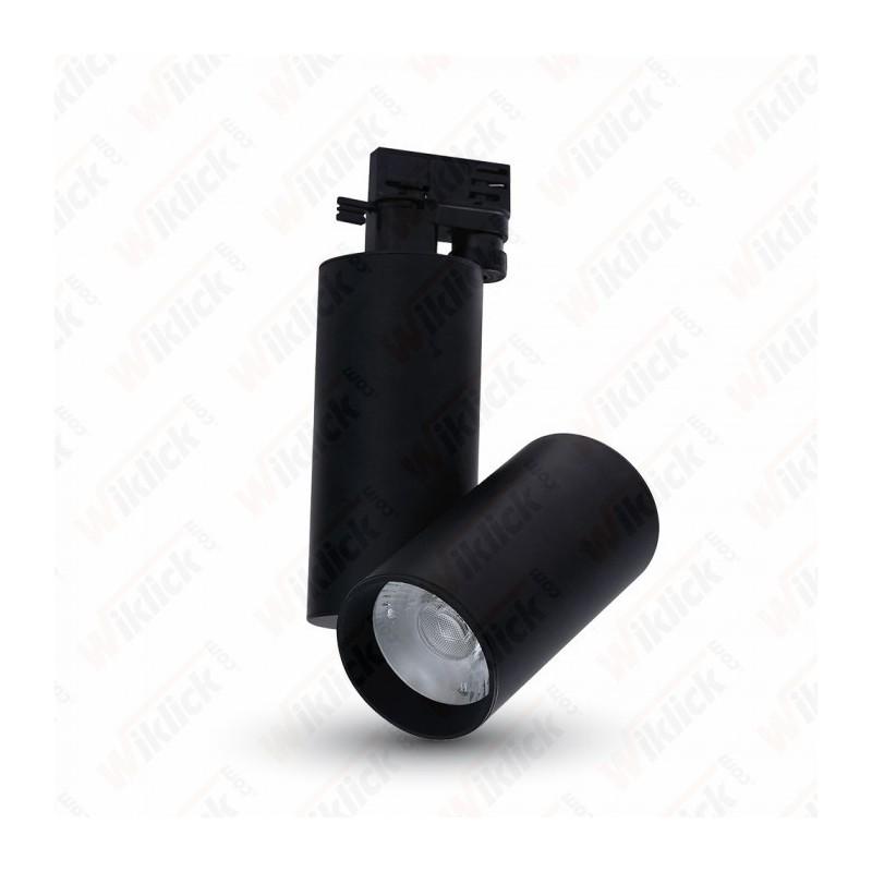 30W LED Track Light Black Body 3000K - NEW