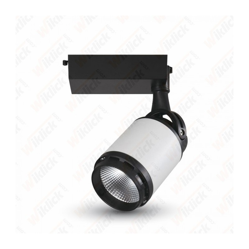 25W LED Track Light Black&White Body 3000K - NEW