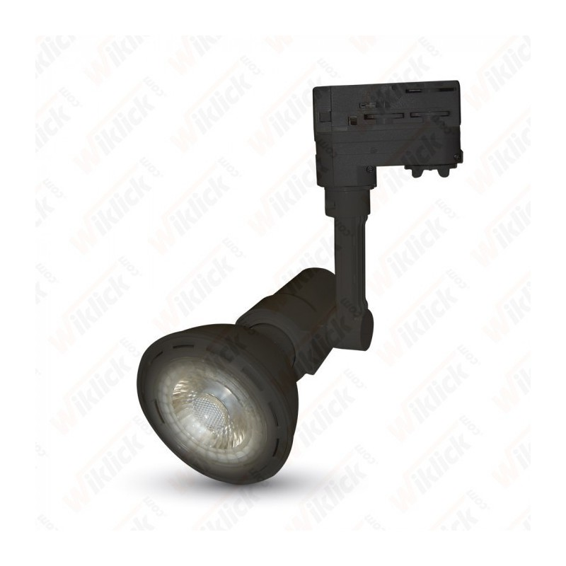 E27 Track Light Fitting 4 Core Black Body