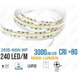 LED Strip SMD2835 - 240 LEDs High Lumen 6400K IP20 - NEW