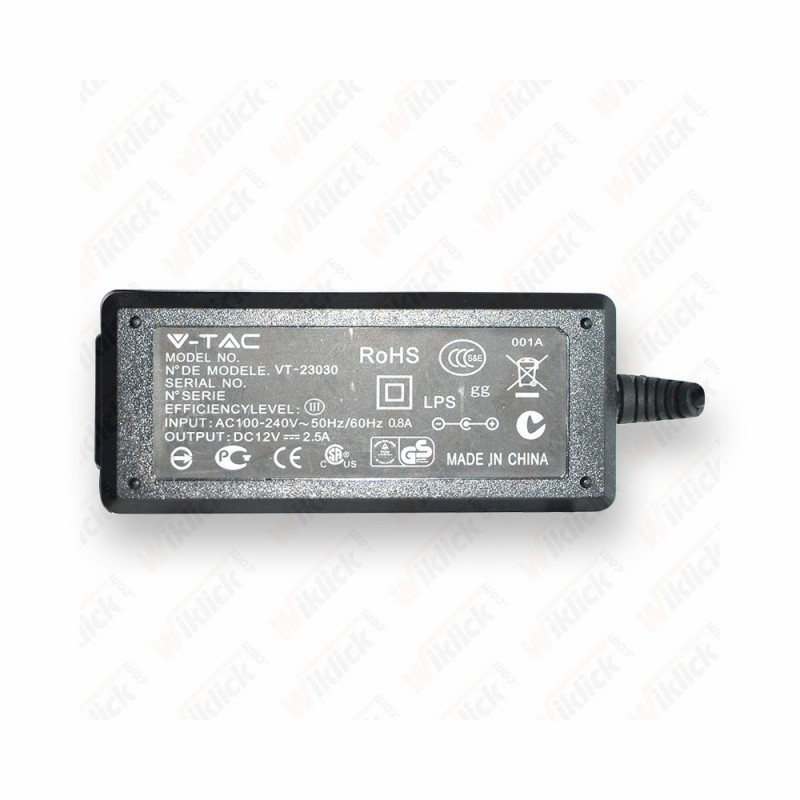 LED Power Supply - 30W 12V 2.5A Plastic NUOVO CODICE: SKU 3016