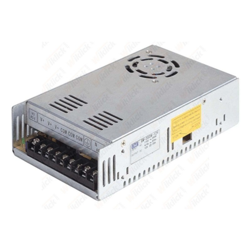 LED Power Supply - 250W 12V 20A Metal - Con Ventola di Raffreddamento