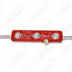 LED Module 3SMD Chips SMD5050 Red IP67 - NEW