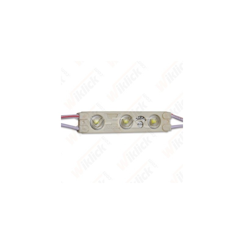 LED Module 3SMD Chips SMD2835 Blue IP67 - NEW