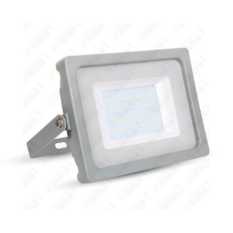 30W LED Floodlight Grey Body SMD 6400K - NEW