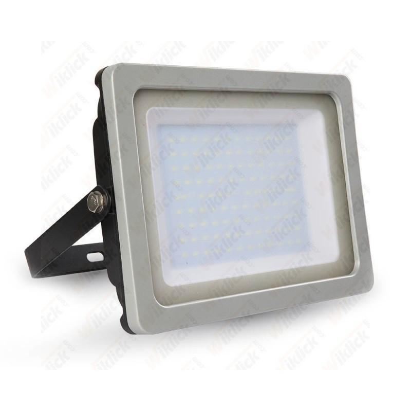 100W LED Floodlight Black/Grey Body SMD 3000K - NEW