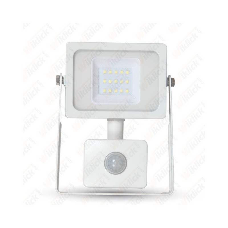 10W LED Floodlight Sensor White Body SMD 3000K