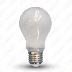 LED Bulb - 4W Filament E27 A60 White Cover 2700K - NEW