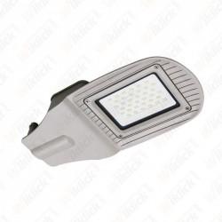 30W SMD Street Lamp Grey Body Grey Glass 4000K - NEW