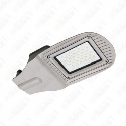 30W SMD Street Lamp Grey Body Grey Glass 4000K - NEW