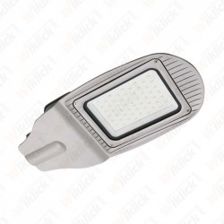 50W SMD Street Lamp Grey Body Grey Glass 4000K - NEW