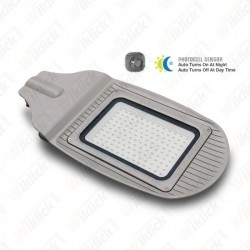 50W SMD Street Lamp WITH  SENSOR, Grey Body & Glass, 4000K - NEW