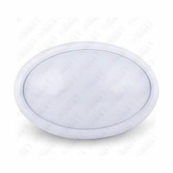 8W Dome Light Oval White Body 3000K IP66 - NEW