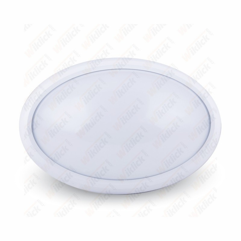 8W Dome Light Oval White Body 3000K IP66 - NEW