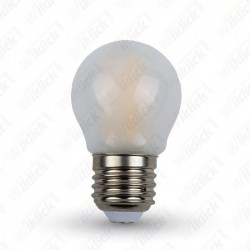 LED Bulb - 4W Filament  E27 G45 Frost Cover 4500K - NEW