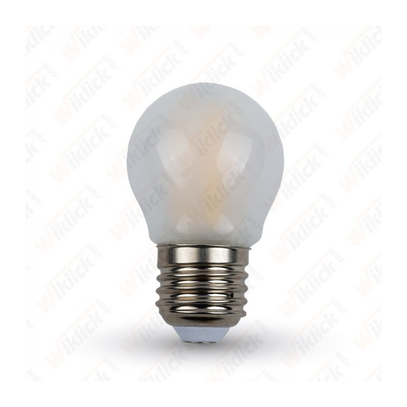 LED Bulb - 4W Filament  E27 G45 Frost Cover 4500K - NEW