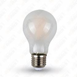 LED Bulb - 4W Filament E27 A60 Frost Cover 6400K - NEW