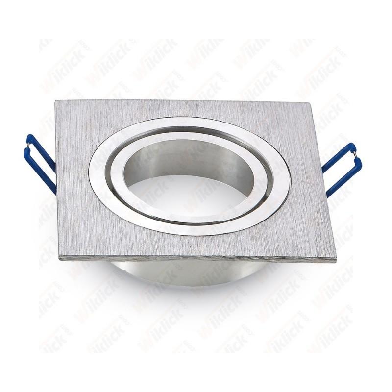 1*GU10 Fitting Square Aluminium Brush