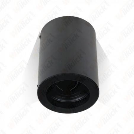 GU10 Fitting Surface Round Black - NEW