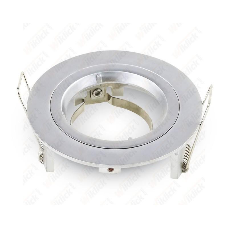 GU10 Fitting Round Silver Grey