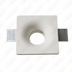 GU10 Fitting Square Gypsum White - NEW