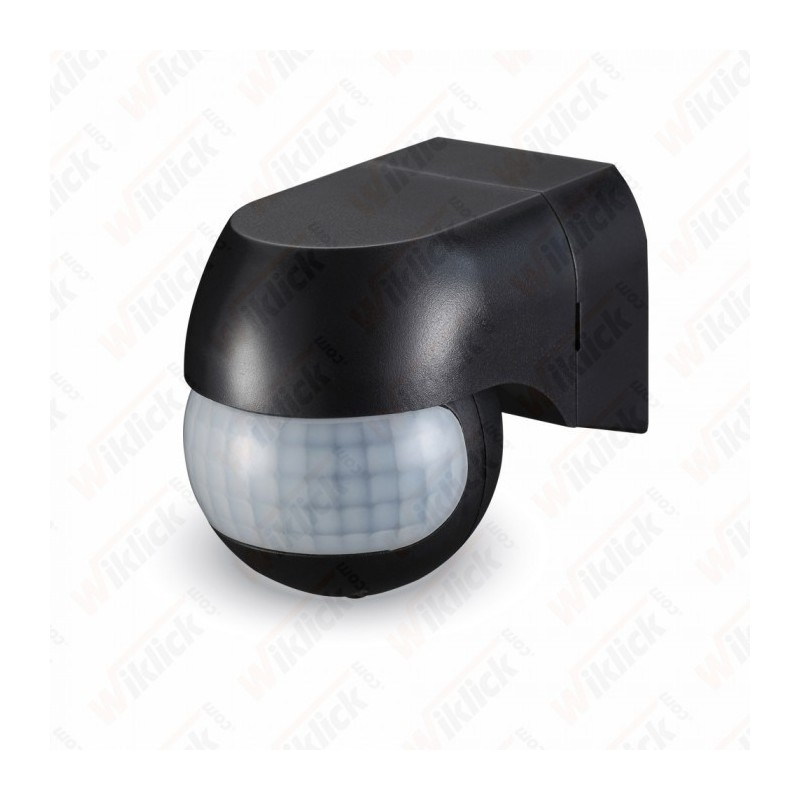 PIR Wall Sensor With Moving Head Black - NEW