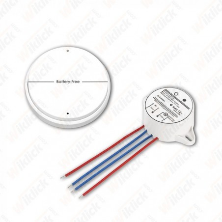 Battery Free Wireless Two Gang Switch Set