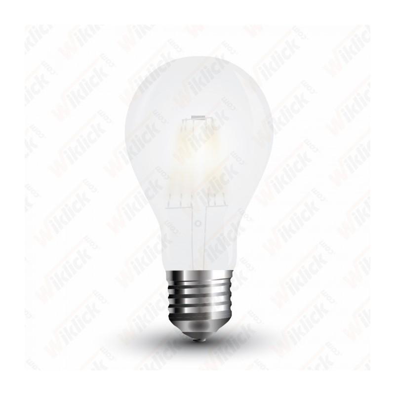 V-TAC VT-1938 LAMPADINA LED E27 8W A67 FILAMENT IN VETRO BIANCO OPACO LUCE BIANCA CALDA
