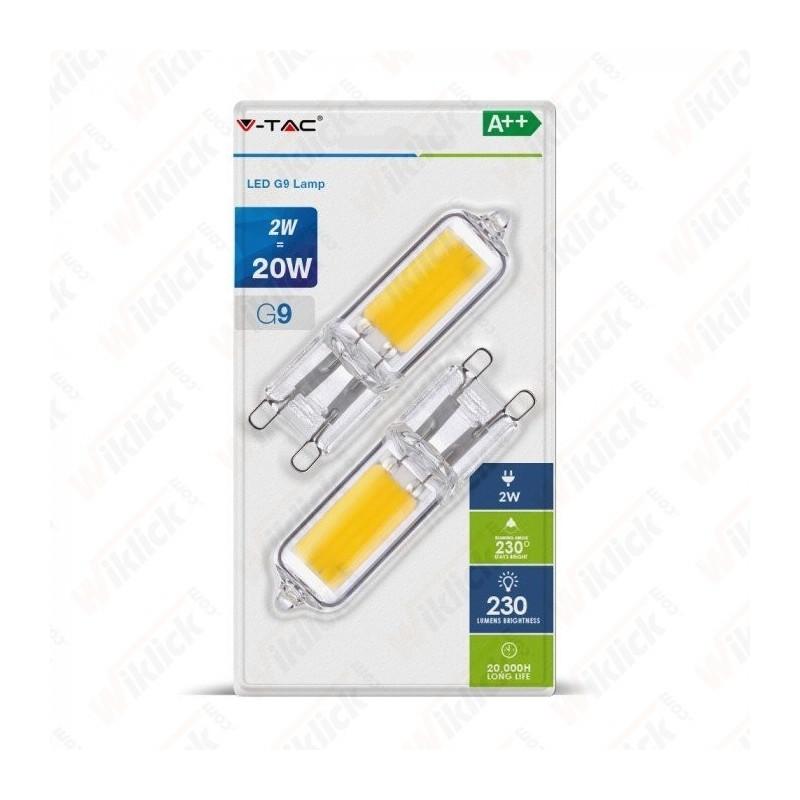 LED Spotlight - 2W 230V G9 Plastic 2700K (Blister 2 Pezzi)