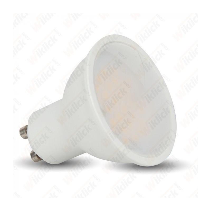 LED Spotlight - 6W GU10 SMD Milky Cover - 110° - 6400K