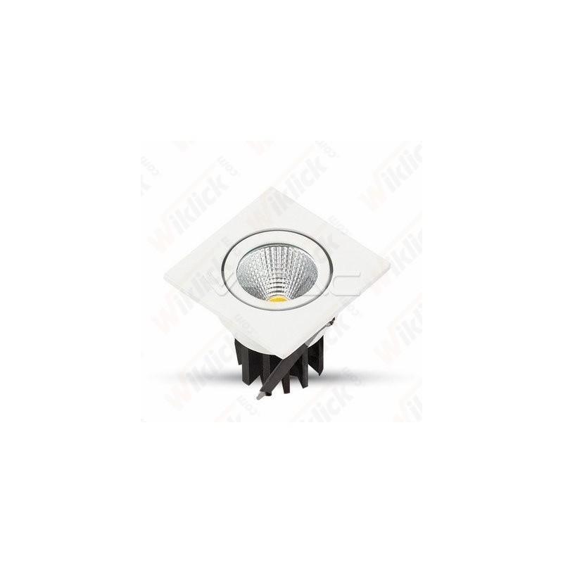 3W LED Downlight COB Square - White Body 6000K