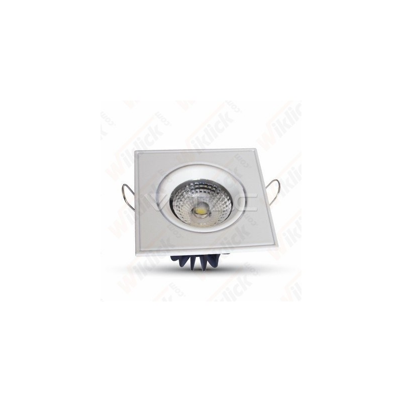 3W LED Downlight COB Square Changing Angle - White Body 6000K