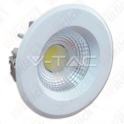10W LED COB Downlight Reflector White Body - 6000K