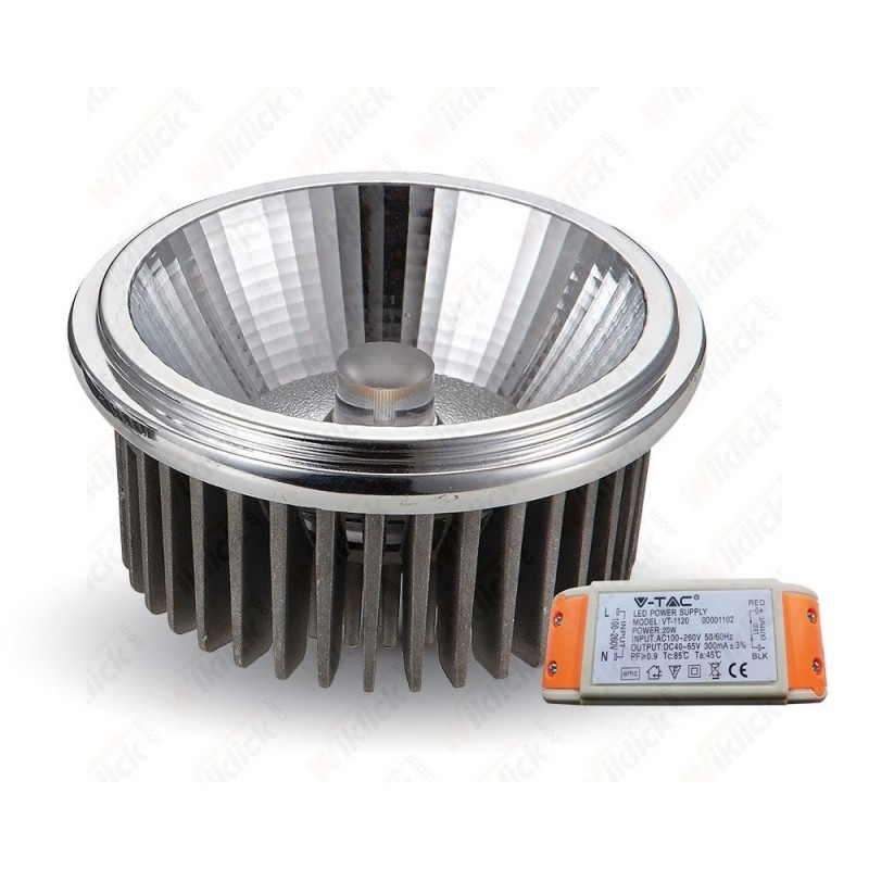 LED Spotlight - AR111 20W 230V Beam 20COB Chip 2700K LED Spotlight