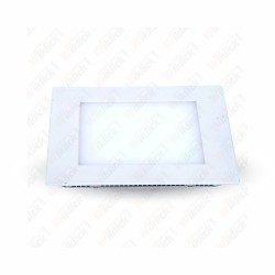 15W LED Panel Downlight - Square 4000K 100Lm/W     W/O Driver