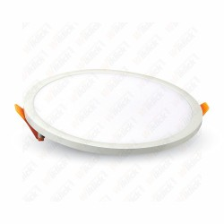 22W LED Frameless Panel Light Round 6400K