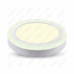 12W+3W LED Surface Panel Downlight - Round 4500K    EMC+CR80