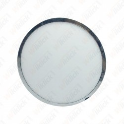 6W LED Surface Panel Light Chrome Round 4500K