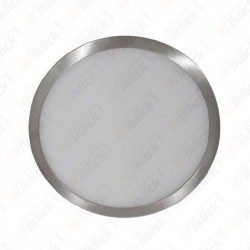 12W LED Surface Panel Light Satin Nickel Round 3000K