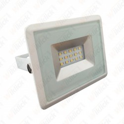 10W LED Floodlight SMD  E-Series White Body 4000K