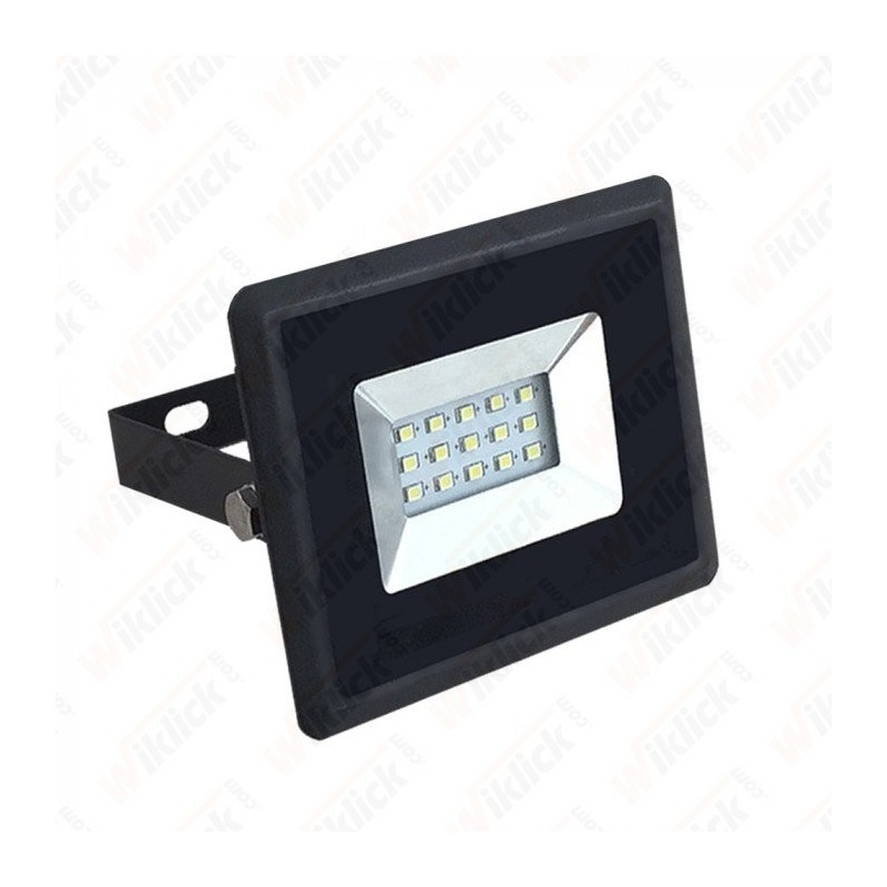 10W LED Floodlight SMD E-Series Black Body 6500K
