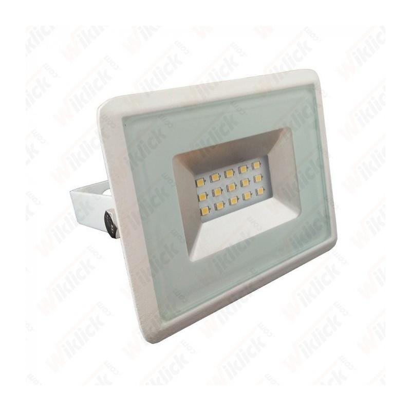 10W LED Floodlight SMD E-Series White Body 3000K