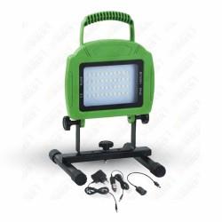 20W LED Rechargable Floodlight Green Body SMD 6000K