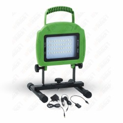 20W LED Rechargable Floodlight Green Body SMD 6000K