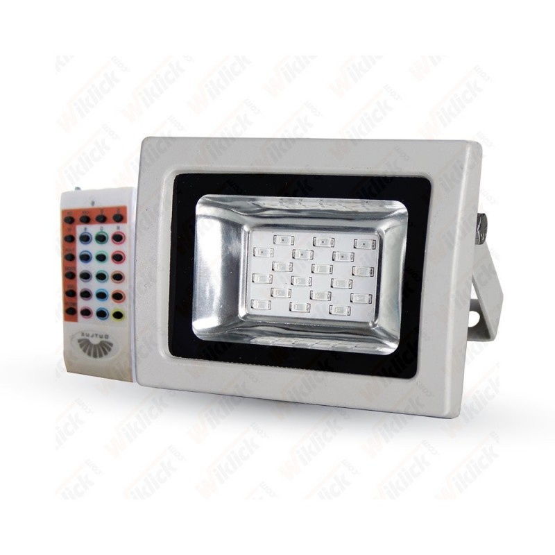 10W LED Floodlight RGB With RF Remote SMD