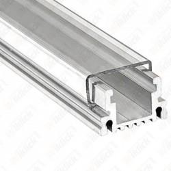 Aluminum Profile Narrow Flat Cap Transparent