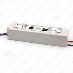 LED Plastic Slim Power Supply 60W IP67 12V   (5 anni di Garanzia)